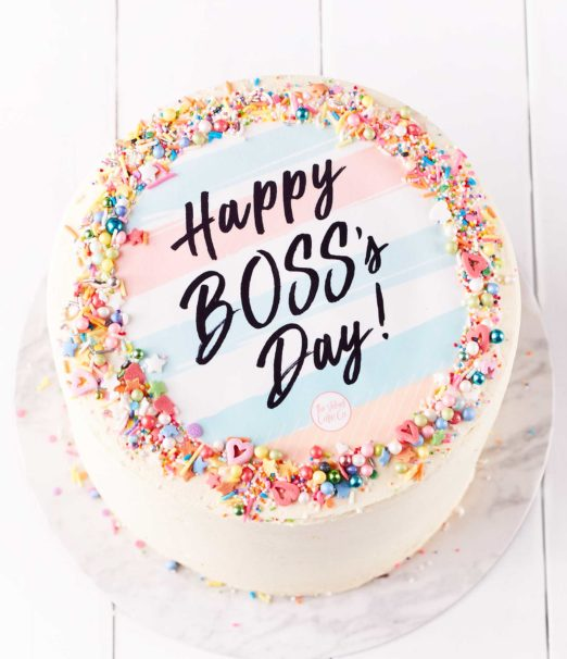 Bosses day gifts - Swiss Buttercream Cake - The Velvet Cake Company