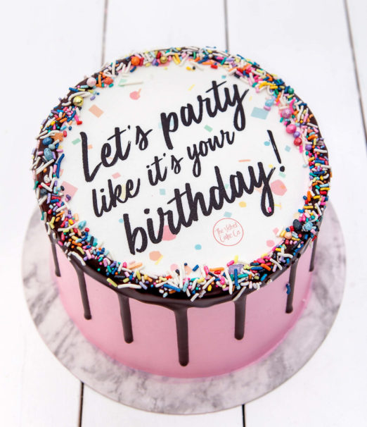 Quirky Birthday Quote Cakes Online - The Velvet Cake Co - Cape Town